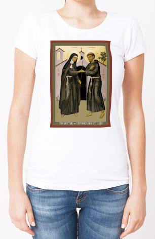 Ladies T-shirt - Meeting of Sts. Francis and Clare by R. Lentz