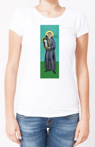 Ladies T-shirt - St. Faustina Kowalska by R. Lentz