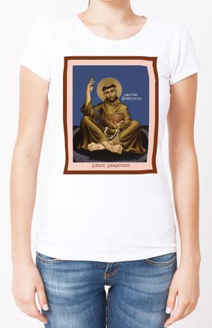 Ladies T-shirt - St. Francis, Father of the Poor by R. Lentz