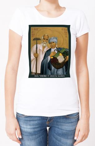 Ladies T-shirt - Sts. Isidore and Maria by R. Lentz