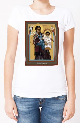 Ladies T-shirt - Navaho Madonna by R. Lentz