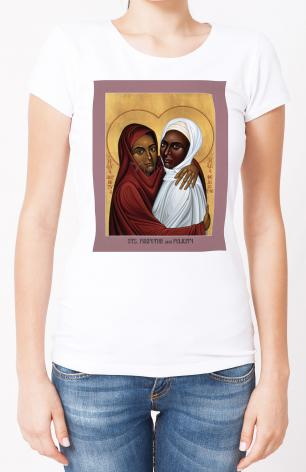 Ladies T-shirt - Sts. Perpetua and Felicity by R. Lentz