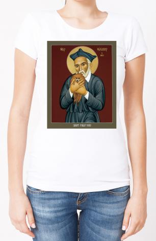Ladies T-shirt - St. Philip Neri by R. Lentz