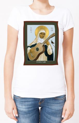 Ladies T-shirt - St. Rose of Lima by R. Lentz