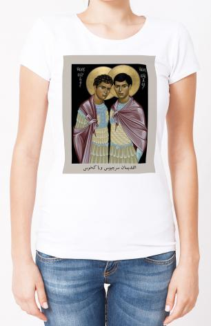 Ladies T-shirt - Sts. Sergius and Bacchus by R. Lentz