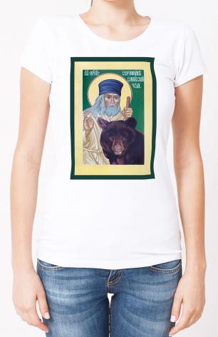 Ladies T-shirt - St. Seraphim of Sarov by R. Lentz