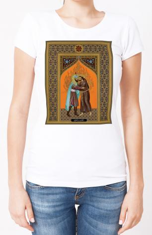 Ladies T-shirt - St. Francis and the Sultan by R. Lentz