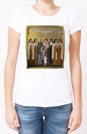 Ladies T-shirt - Sts. Louis and Zélie Martin with St. Thérèse of Lisieux and Siblings by P. Orlando