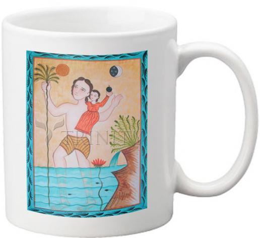 Coffee-Tea Mug - St. Christopher by A. Olivas