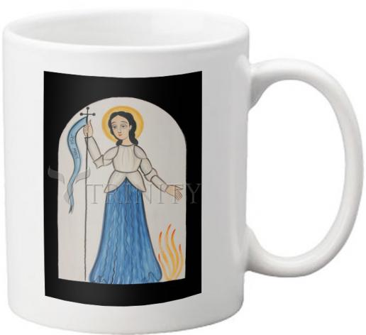 Coffee-Tea Mug - St. Joan of Arc by A. Olivas