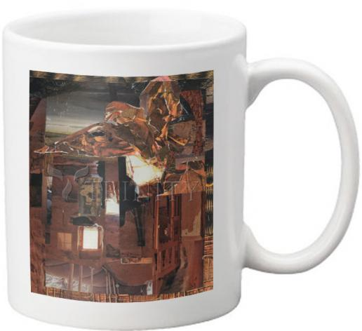 Coffee-Tea Mug - Eagle Hovers Over Ruins by B. Gilroy