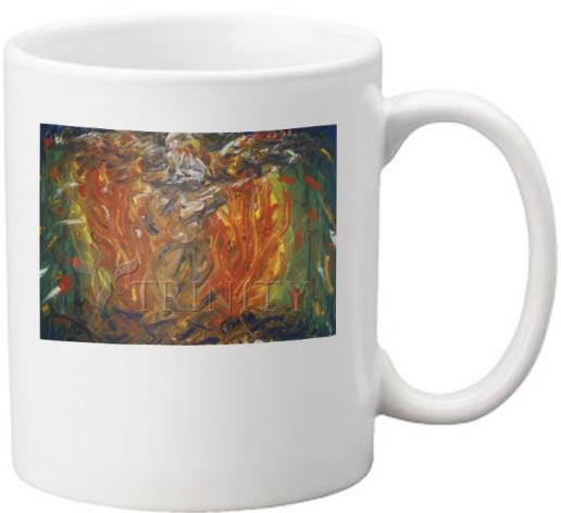 Coffee-Tea Mug - Eagle in Fire That Does Not Burn by B. Gilroy
