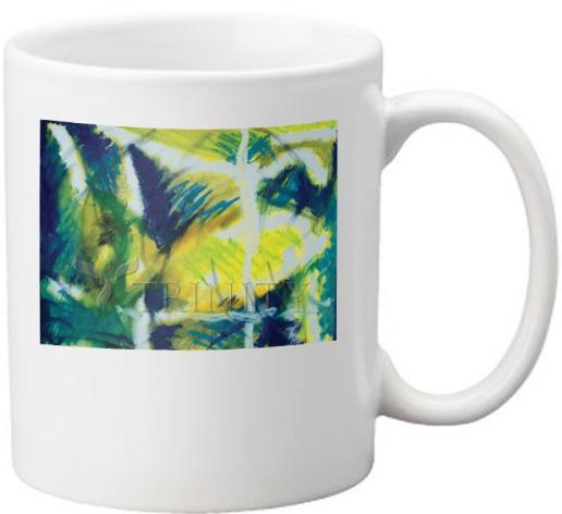 Coffee-Tea Mug - Fish In Net by B. Gilroy