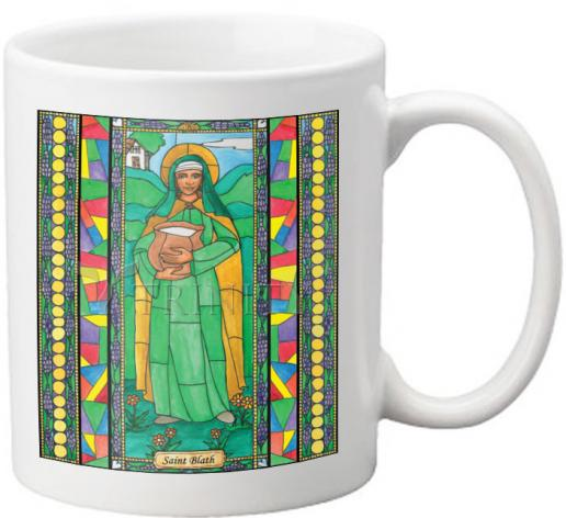 Coffee-Tea Mug - St. Blath by B. Nippert