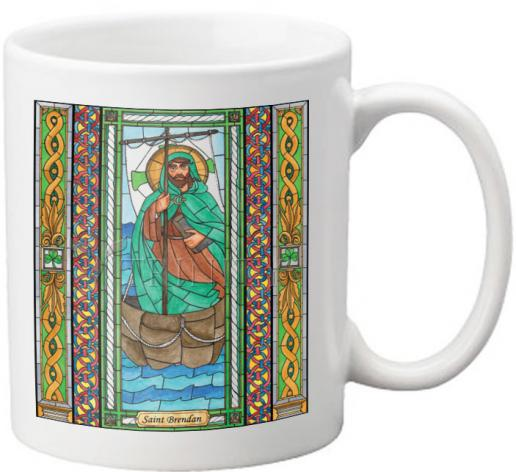 Coffee-Tea Mug - St. Brendan by B. Nippert
