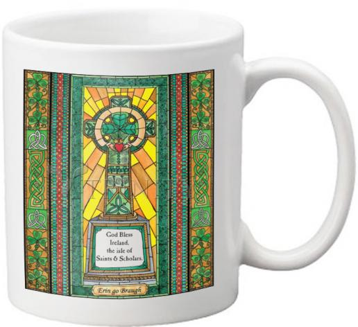 Coffee-Tea Mug - Celtic Cross by B. Nippert