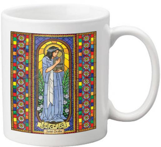 Coffee-Tea Mug - St. Cecilia by B. Nippert