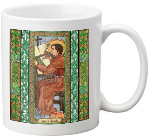 Coffee-Tea Mug - St. Columba by B. Nippert