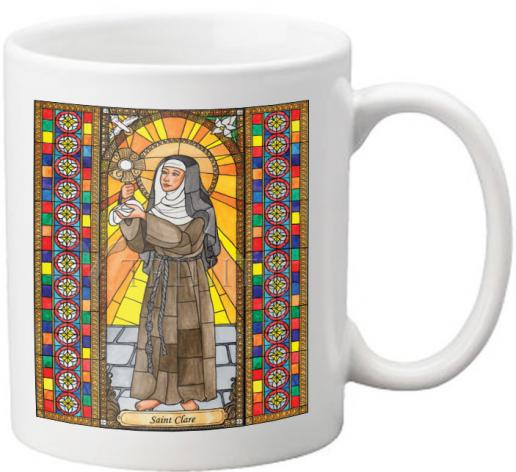 Coffee-Tea Mug - St. Clare of Assisi by B. Nippert