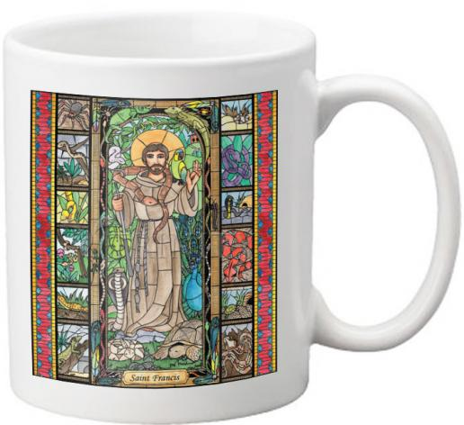 Coffee-Tea Mug - St. Francis - Patron of Exotic Animals by B. Nippert