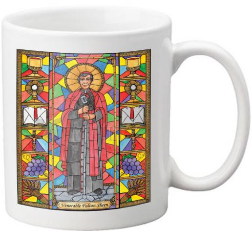 Coffee-Tea Mug - Ven. Fulton Sheen by B. Nippert