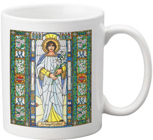 Coffee-Tea Mug - St. Gabriel Archangel by B. Nippert