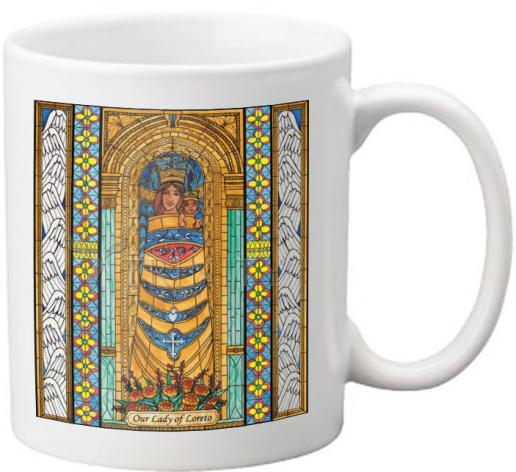 Coffee-Tea Mug - Our Lady of Loreto by B. Nippert