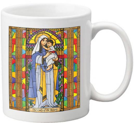 Coffee-Tea Mug - Our Lady of the Rosary by B. Nippert