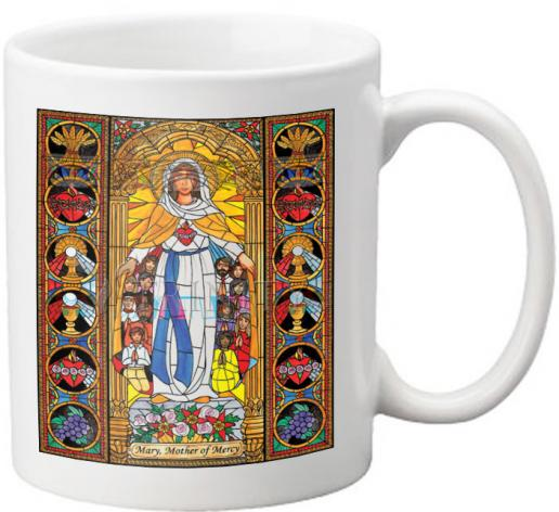 Coffee-Tea Mug - Mary, Mother of Mercy by B. Nippert