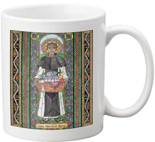 Coffee-Tea Mug - St. Martin de Porres by B. Nippert
