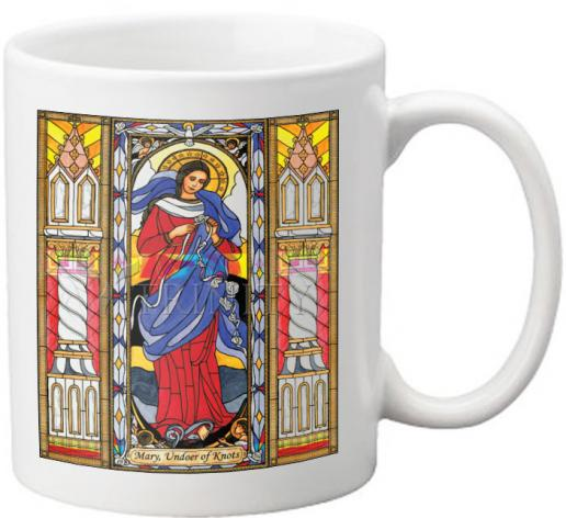 Coffee-Tea Mug - Mary, Undoer of Knots by B. Nippert