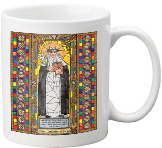 Coffee-Tea Mug - St. Catherine of Siena by B. Nippert