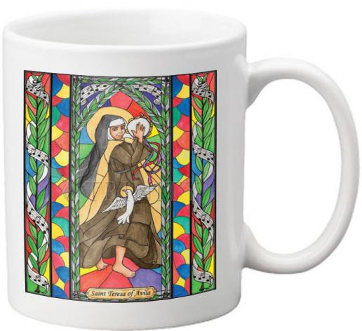Coffee-Tea Mug - St. Teresa of Avila by B. Nippert