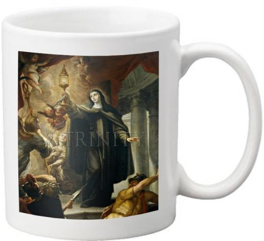 Coffee-Tea Mug - St. Clare of Assisi Driving Away Infidels with Eucharist by Museum Art