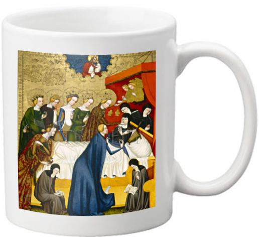 Coffee-Tea Mug - Death of St. Clare of Assisi by Museum Art