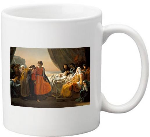 Coffee-Tea Mug - Death of St. Louis, King of France by Museum Art
