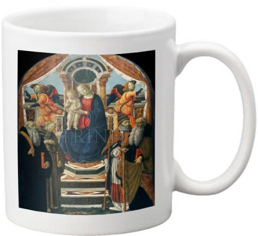 Coffee-Tea Mug - Madonna and Child Enthroned with Saints and Angels by Museum Art