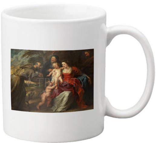 Coffee-Tea Mug - Holy Family with Sts. Francis and Anne and Infant St. John the Baptist by Museum Art