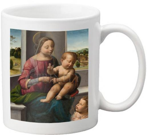 Coffee-Tea Mug - Madonna and Child with Young St. John the Baptist by Museum Art