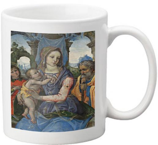 Coffee-Tea Mug - Madonna and Child with St. Joseph and Angel by Museum Art