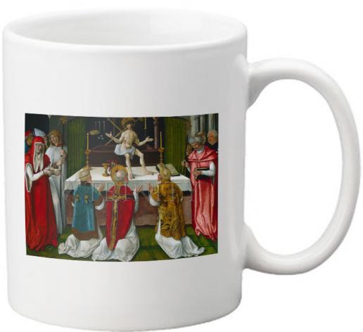Coffee-Tea Mug - Mass of St. Gregory the Great by Museum Art