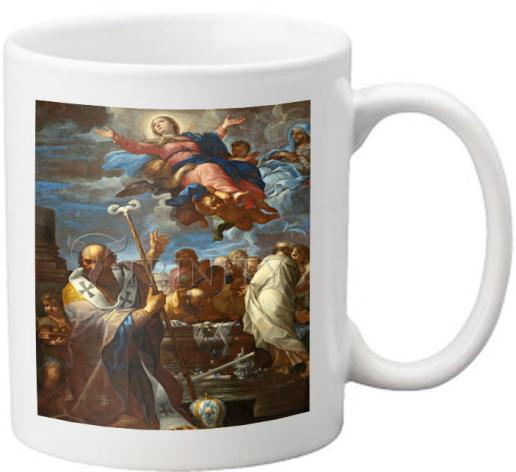 Coffee-Tea Mug - Assumption of Mary with Sts. Anne and Nicholas of Myra by Museum Art