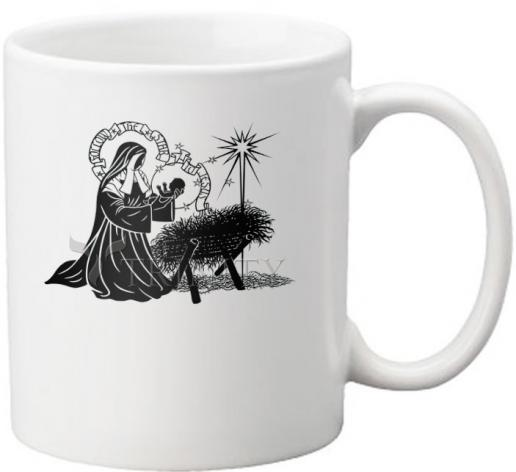 Coffee-Tea Mug - St. Bernadette of Lourdes - Manger by D. Paulos