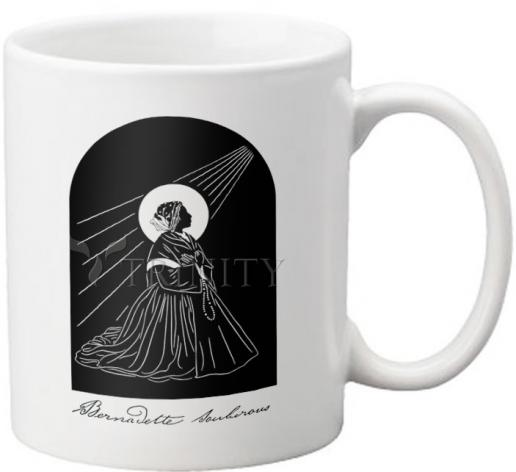Coffee-Tea Mug - St. Bernadette by D. Paulos