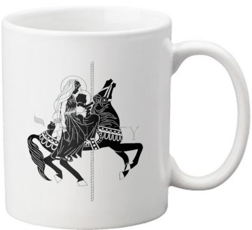 Coffee-Tea Mug - Carousel Madonna by D. Paulos