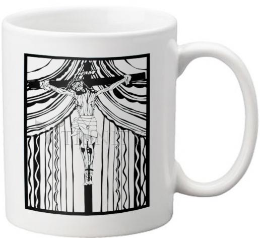 Coffee-Tea Mug - Cristo de Chimayó by D. Paulos