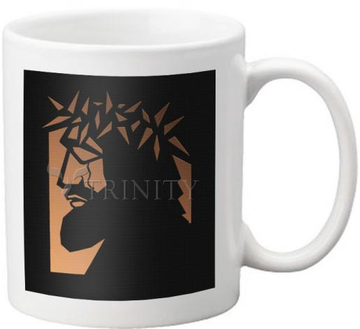 Coffee-Tea Mug - Christ Hailed as King - Brown Glass by D. Paulos