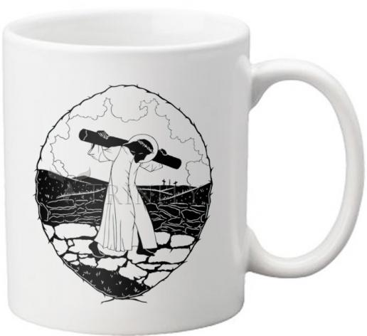 Coffee-Tea Mug - Carrying of the Cross - background view by D. Paulos