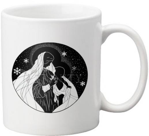 Coffee-Tea Mug - Our Lady of the Snows by D. Paulos