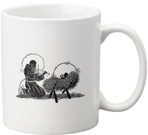 Coffee-Tea Mug - Bl. Solanus Casey and Infant Jesus by D. Paulos